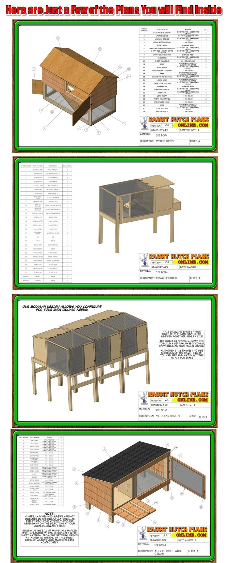 Rabbit hutch plan woodworking projects plans rabbits for Rabbit hutch plans easy