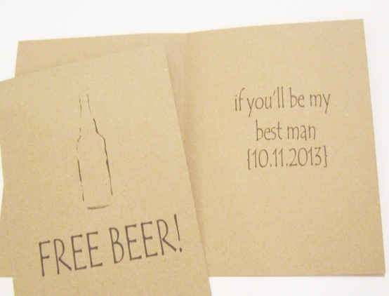 Will You Be My Groomsman Groomsmen Cards Set of 5 Best Man Usher Junior Groomsmen Wedding Party Card Funny Card Drinking Card. $20.00, via Etsy.