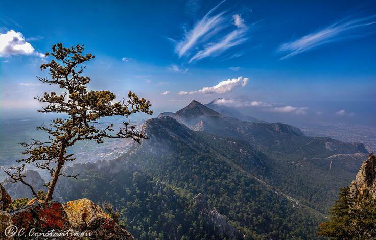 Pentadaktylos mountain range from Buffavento Castle,Occupied Cyprus by Costas Constantinou