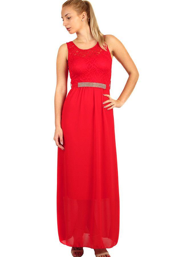 Dlouhé večerní šaty s krajkovým vrškem - koupit online na Glara.cz   damskesaty   b0887db2de