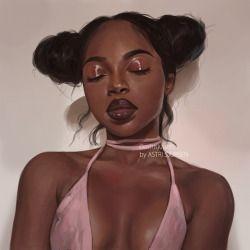Black Women Art! — Portrait Study #8 by AstriSjursen