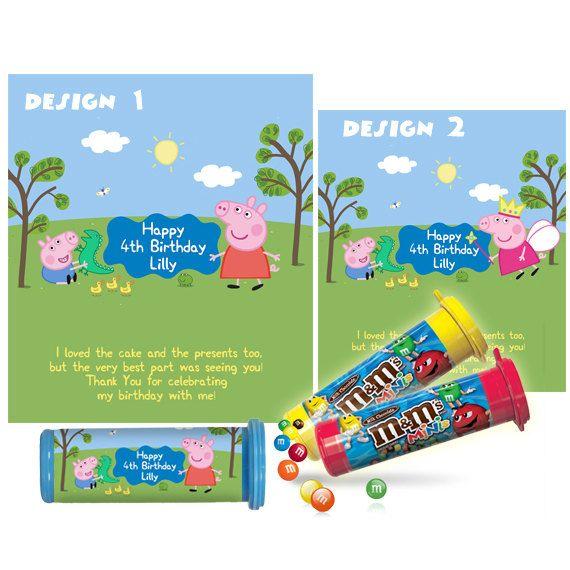 Peppa Pig Mini M&M Tube Wrapper, George pig Mini MM Tube label, Peppa Pig Birthday Party favors, Printable Digital 003