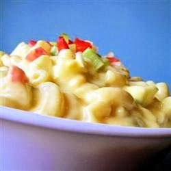 Amish Macaroni Salad - A colorful and flavorful macaroni salad made with hard cooked eggs, bell pepper and celery in a creamy dressing. Best macaroni salad I have ever had. I always get many requests for recipe. Enjoy!