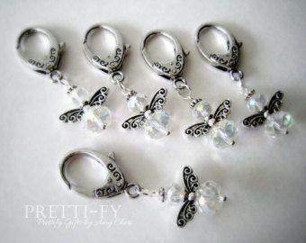 Incanto di portachiavi di cristallo Angelo cuore di PrettifyGifts