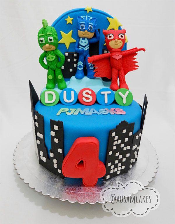 d940e34ed5 35 Torte dei PJ Masks Super Pigiamini in Pasta di Zucchero (PDZ ...