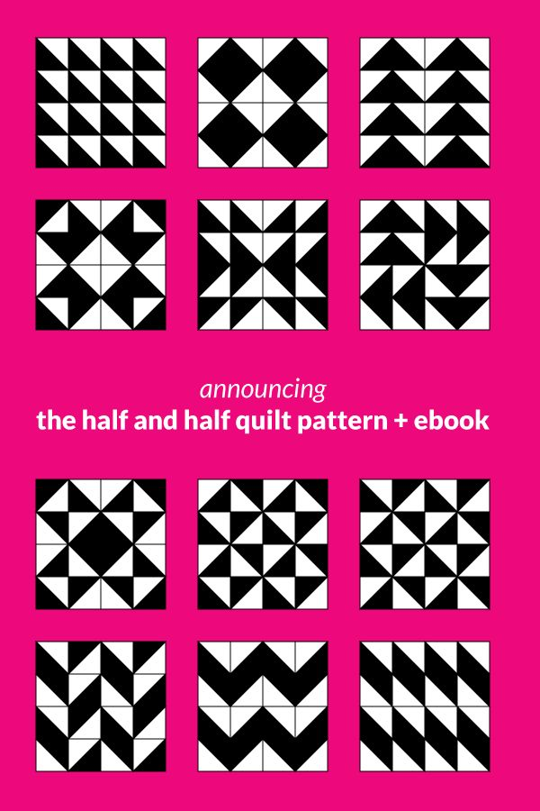 473 best quilting half and quarter square triangle blocks and this is not just your average half square triangle quilt pattern announcing the half and fandeluxe Ebook collections