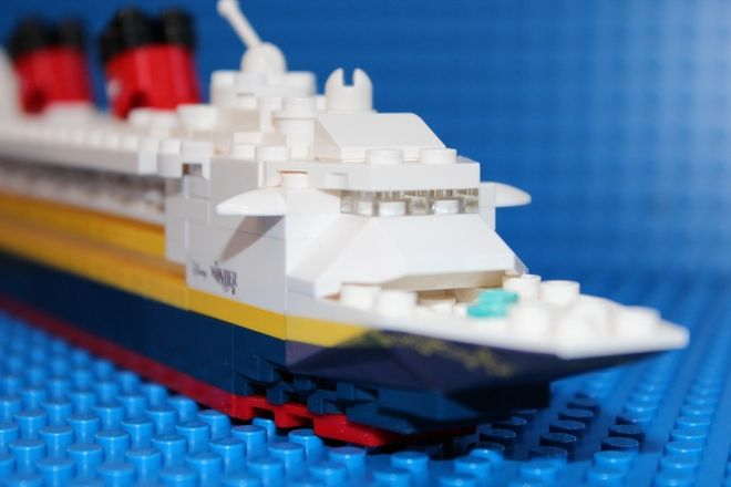 Mini Lego Disney Wonder Cruise Ship - Please vote for project on Lego Ideas - https://ideas.lego.com/projects/128153