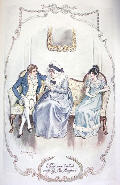 They were divided only by Mrs. Musgrove - Jane Austen's Persuasion, 1909