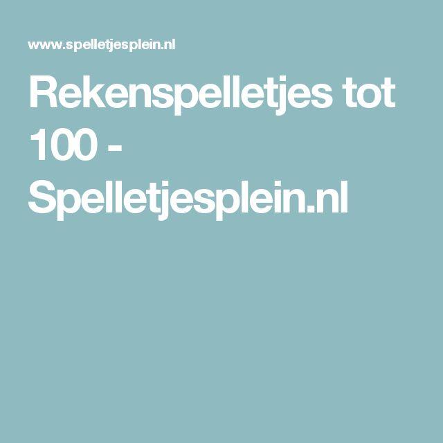 Rekenspelletjes tot 100 - Spelletjesplein.nl