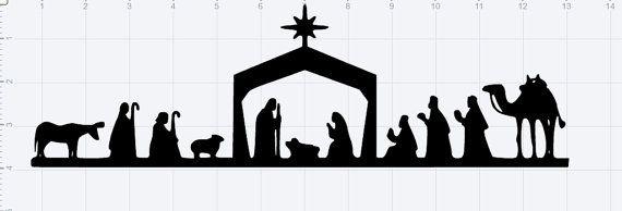 Nativity Scene SVG EPS DXF Studio3 Cut File by EbroideryandSVGzone