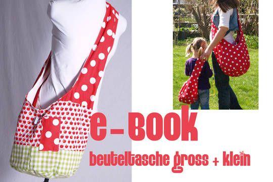 eBOOK # 1 ♥ Beuteltasche gross + klein - Schnittmuster und Nähanleitungen bei makerist sofort runterladen
