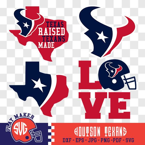 Houston Texans SVG, Texans Football Clipart, Houston Texans Monogram, Houston Texans Silhouette, Screen Printing, Play_11