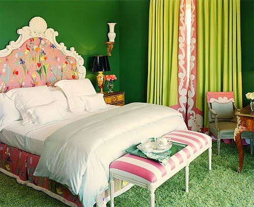 pink green bedroom | 2019 Color Trends