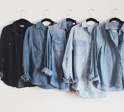 Collection de chemises en jean ! Parfait pour toutes les envies !