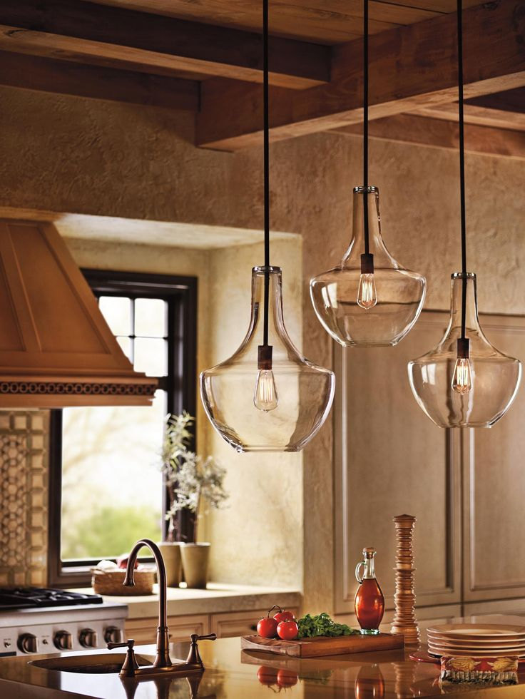 Superb Everly Ceiling Pendant From Kichler Lighting....over Kitchen Island