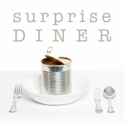 Uitnodiging etentje, gemaakt door OTTI. Verkrijgbaar bij Kaartje2Go.