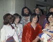 "Members of Charles Manson's ""family"" who showed up for the arraignment of cult member Patricia Krenwinkel are shown, Feb. 24, 1970. From left: Lynette ""Squeaky"" Fromme, Sandra Good, Mark Ross, Paul Watkins and Catherine ""Gypsy"" Share holding Catherine Good's son Ivan."