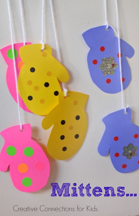 Mittens - A winter craft for kids!