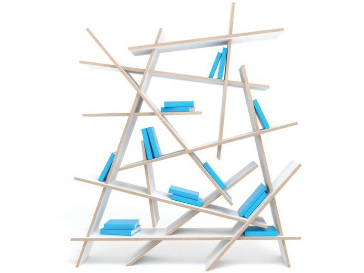 Plywood Bookcase CRASH By Sixinch Design Rainer Mutsch