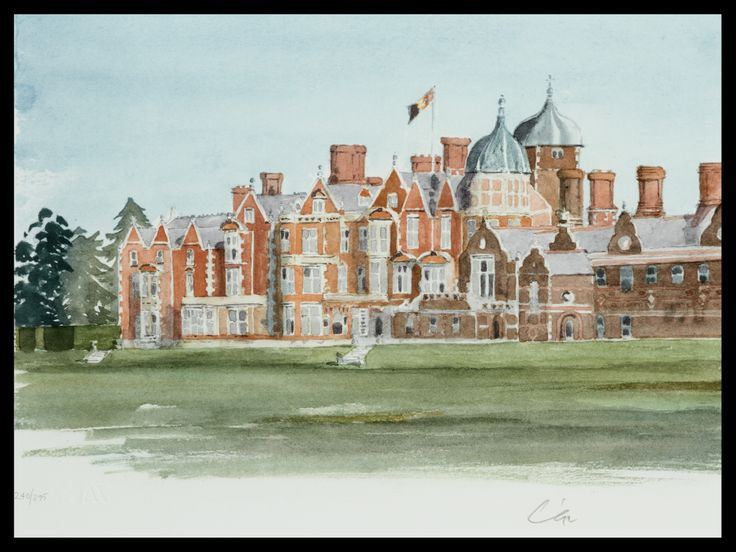 HRH The Prince of Wales Sandringham Limited Edition Signed Lithograph 46 x 61 cm £5,000