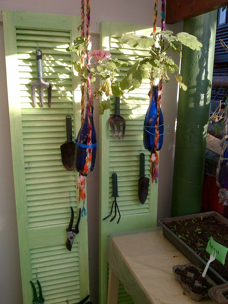 Amongst So Many Ideas To Use Old Shutters, I Have Created Mine To Hang My.  Old ShuttersGardening ToolsOld Window Shutters