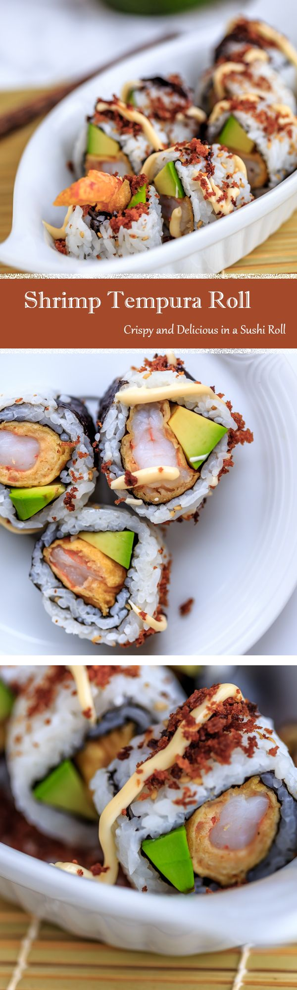 Recipe for Shrimp Tempura Sushi Roll - #Recipes #Sushi #Japanese #Crispy
