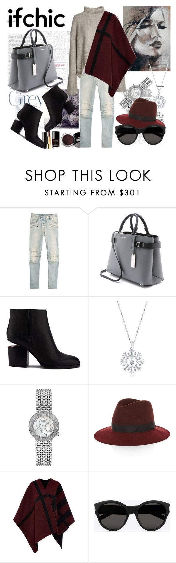 #ifchic by denisa-marcu on Polyvore featuring Burberry, Balmain, Alexander Wang, Michael Kors, Bulova, Allurez, rag & bone, Yves Saint Laurent, Chanel and michaelkors