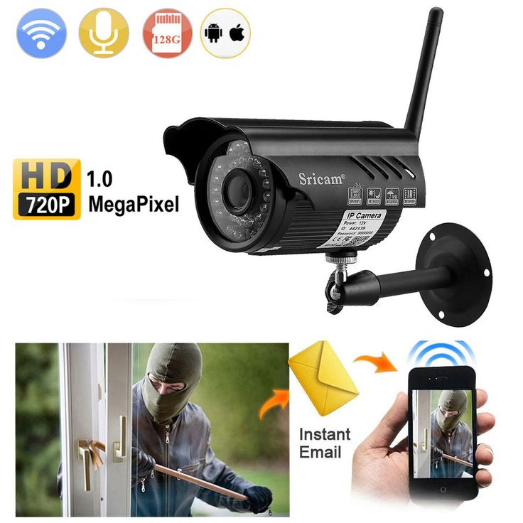 Outdoor 720P HD WiFi Wlan IR Nachtsicht CCTV IP Kamera Netzwerk Funk Überwachung  | eBay