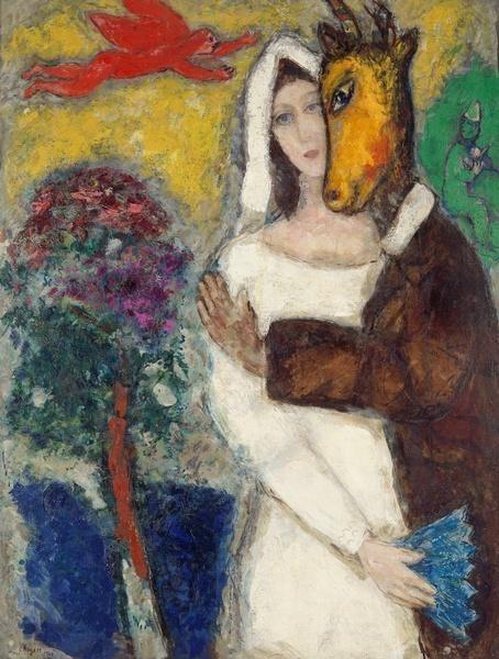 Marc CHAGALL (Vitebsk, 1887 - Saint-Paul-de-Vence, 1985) Songe d'une nuit d'été 1939 Huile sur toile 116,5 x 89 cm Don de l'artiste en 1951 © ADAGP © Musée de Grenoble