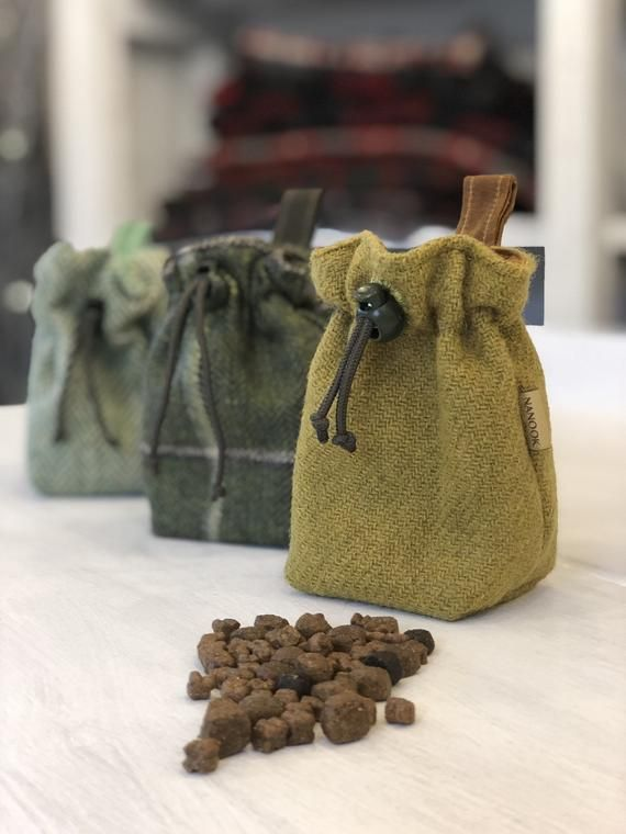 Snazzy And Stylish Harris Tweed And Berber Wax Dog Treat Pouch In 2020 Dog Treat Pouch Treat Pouch Dog Treat Bag