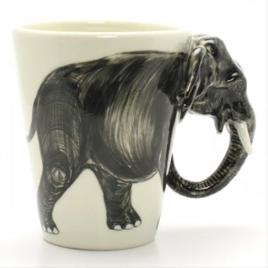 Elephant Mug Animal Lover Handmade Ceramic Coffee Cup Art Crafts .. 2015 - 2016 http://profotolib.com/picture.php?/13247/category/494