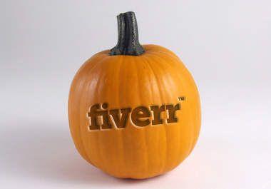 uniquefivex: I will put your logo on a Pumpkin for $5