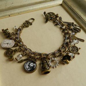 Image of Steampunk Inspired Charm Bracelet