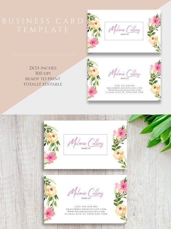 Floral Business Card Template Floral Business Cards Business Card Template Card Template