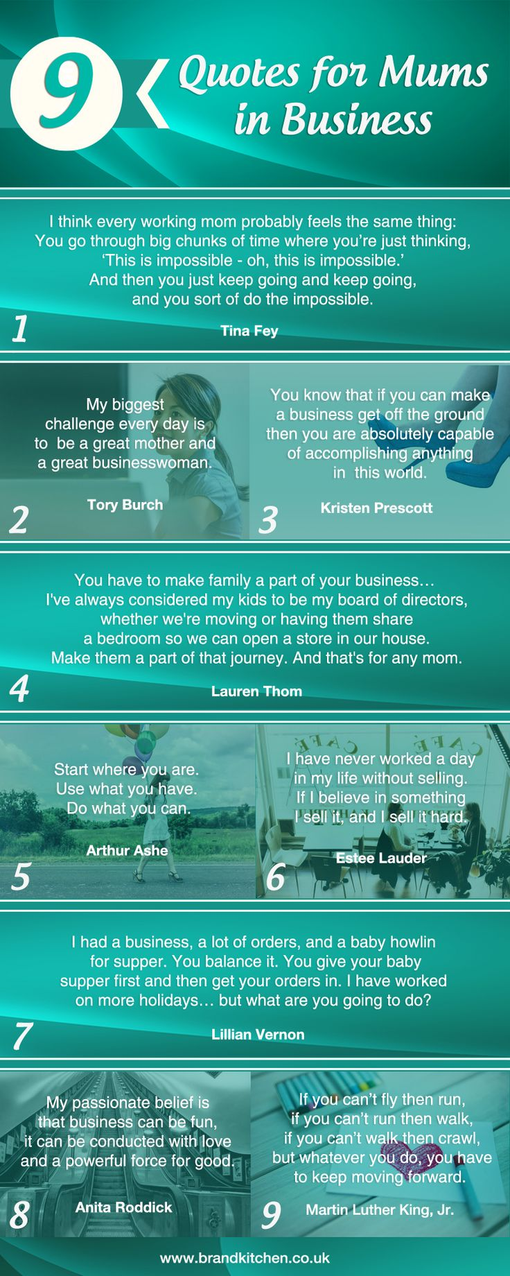 9 Quotes for Mums in Business #infographic #quotes #business #mum