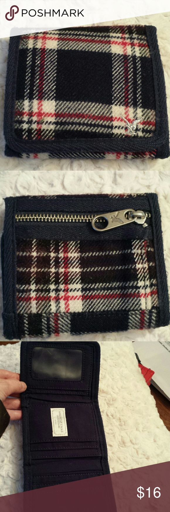 American Eagle Outfitters Plaid Wallet American Eagle Outfitters Plaid Wallet  Gently used American Eagle Outfitters  Bags Wallets