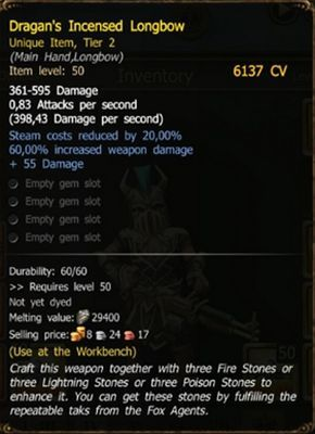 Dragan's Incensed Longbow