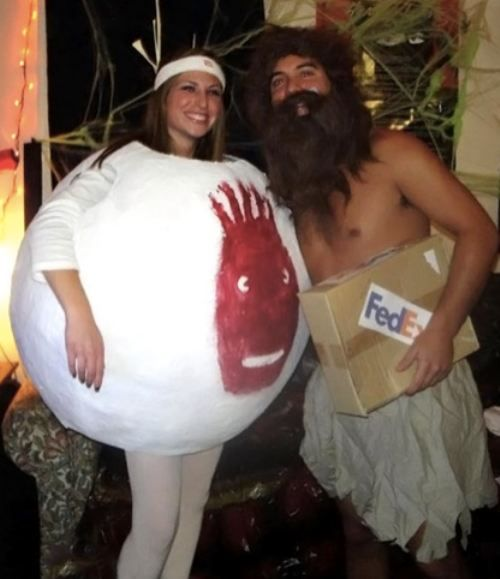 couples costume!: Halloweencostumes, Holiday, Couples Costume, Halloween Costumes, Costume Ideas, Couple Costumes, Funny, Wilson, Halloween Ideas