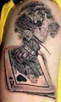 Joker wild card tatoo