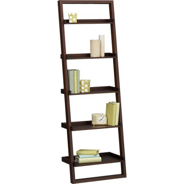 Sloane Java 25 5 Leaning Bookcase