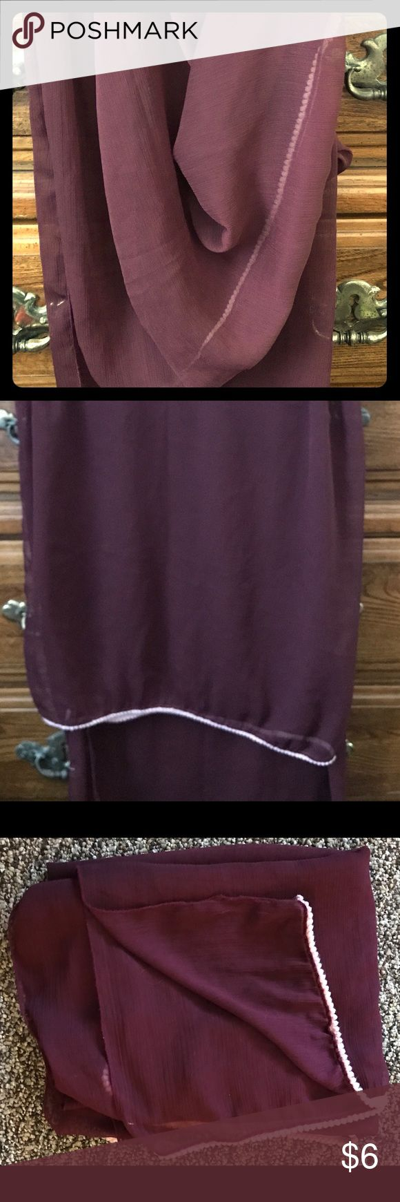 Sarong swimsuit cover-up Purple lightweight wrap around swimsuit cover up. Large enough to be work as a skirt, halter top, strapless dress, or anything else you can think of. Never worn. Swim Sarongs