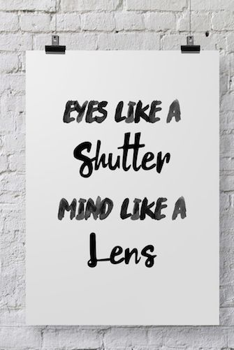 Photographer Poster Eyes Like A Shutter POSTER60 Photography Adorable Photography Quotes