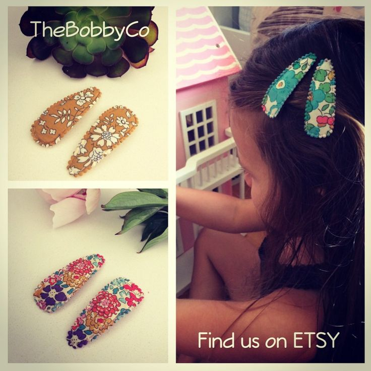 Liberty fabric covered snap clips by TheBobbyCo on Etsy
