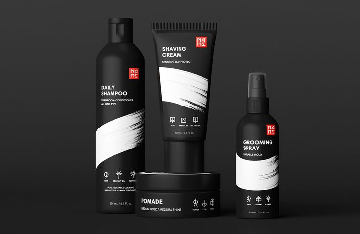 NAMI — Brand concept #FB_Agency #Package #Design #Black #Cosmetics #Man #Japan #Дизайн #Упаковки #Чёрная