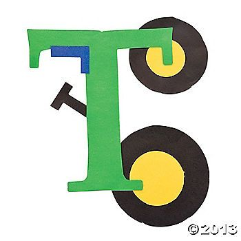 """""""T Is For Tractors"""" Letter T Craft Kit"""