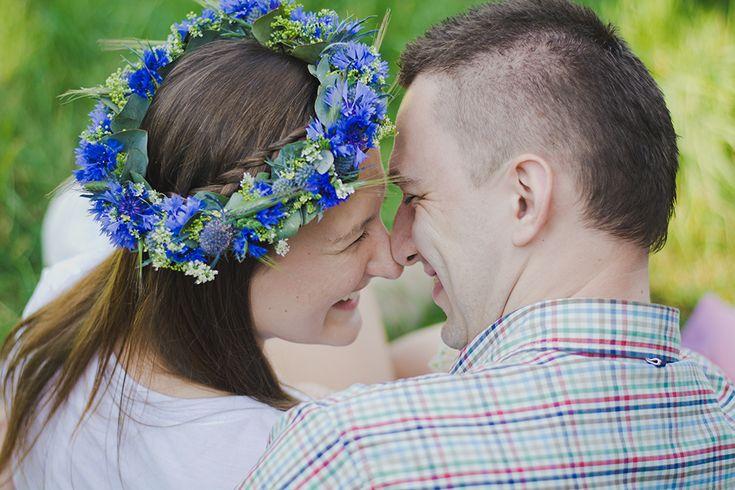 INNA Studio_  floral crowns / wianek polny / niebieskie chabry / fot. TiAmoFoto