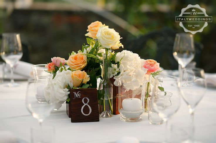 wooden boxes and hand painted table numbers