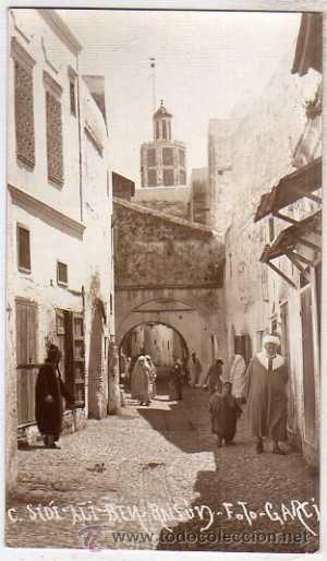 Tetuán (Marruecos), Calle Sidi Ali Ben Raisun. Sin circular. Foto Garcia. 13 €