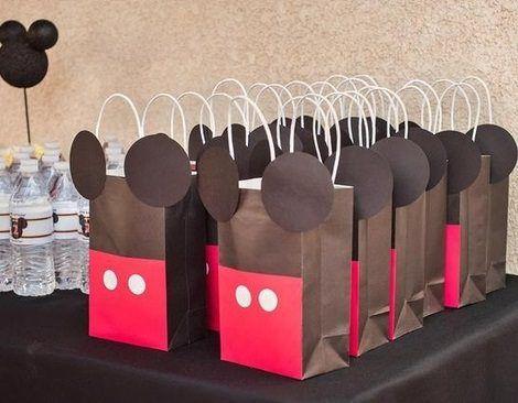 bolsitas de cumpleaños caseras de mickey mouse