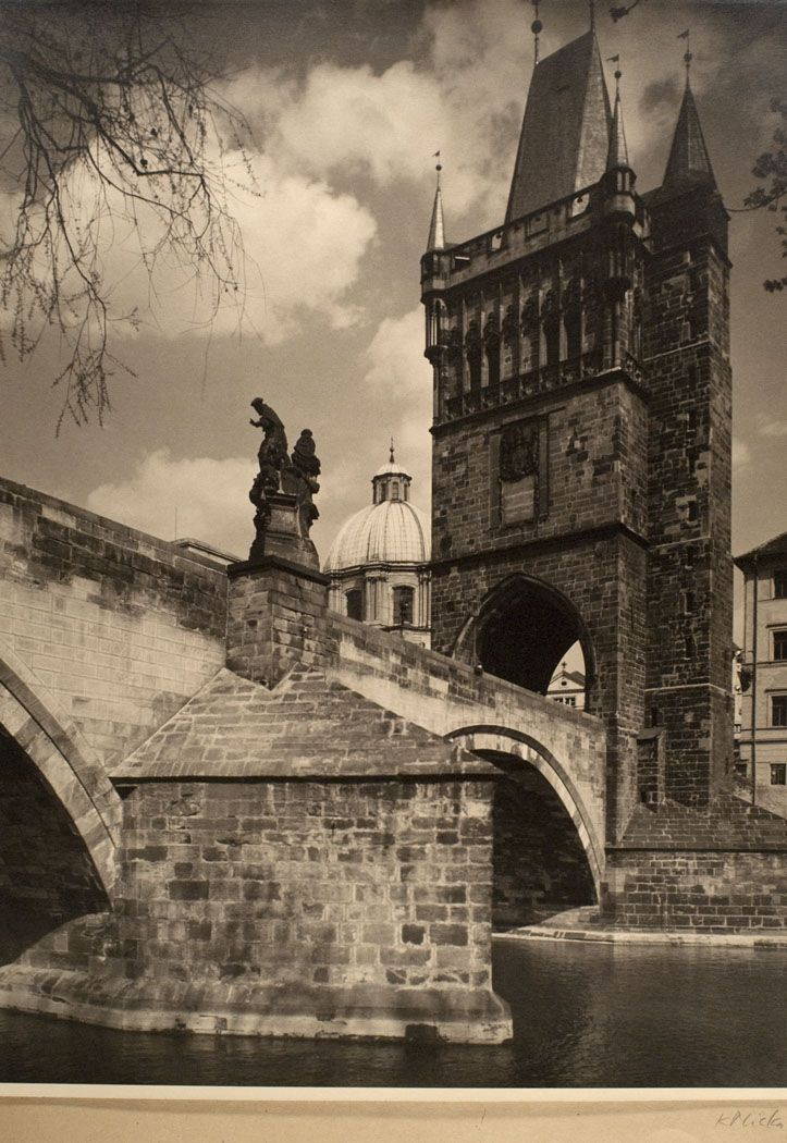 Bridge Tower in Prague by Karel Plicka